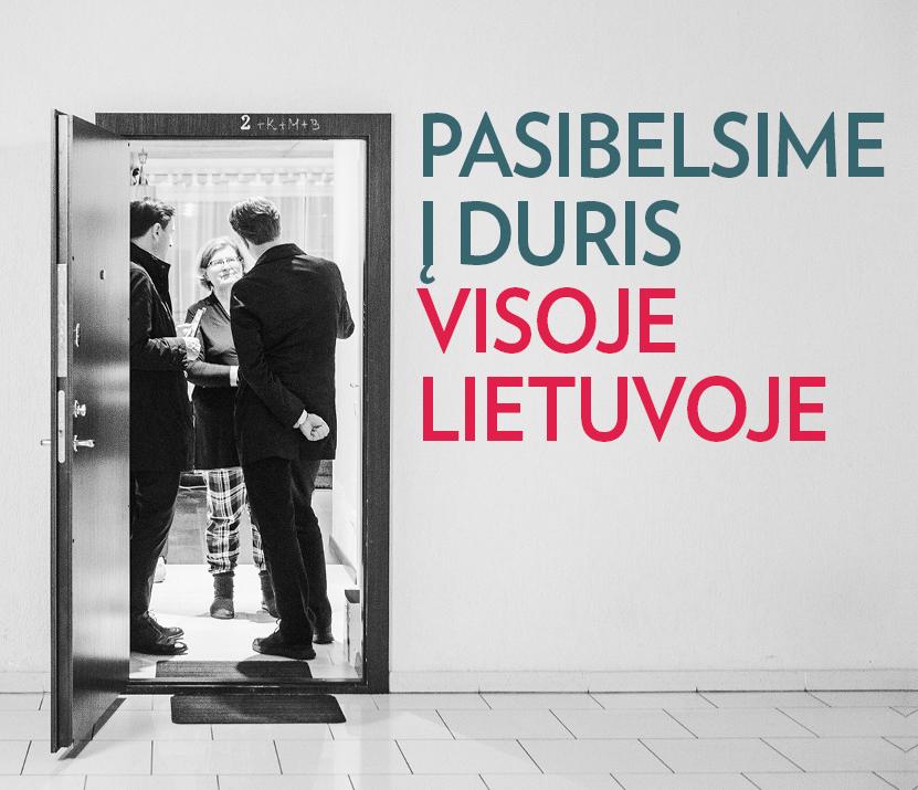 """G. Landsbergis: """"Pasibelsime į duris visoje Lietuvoje"""""""